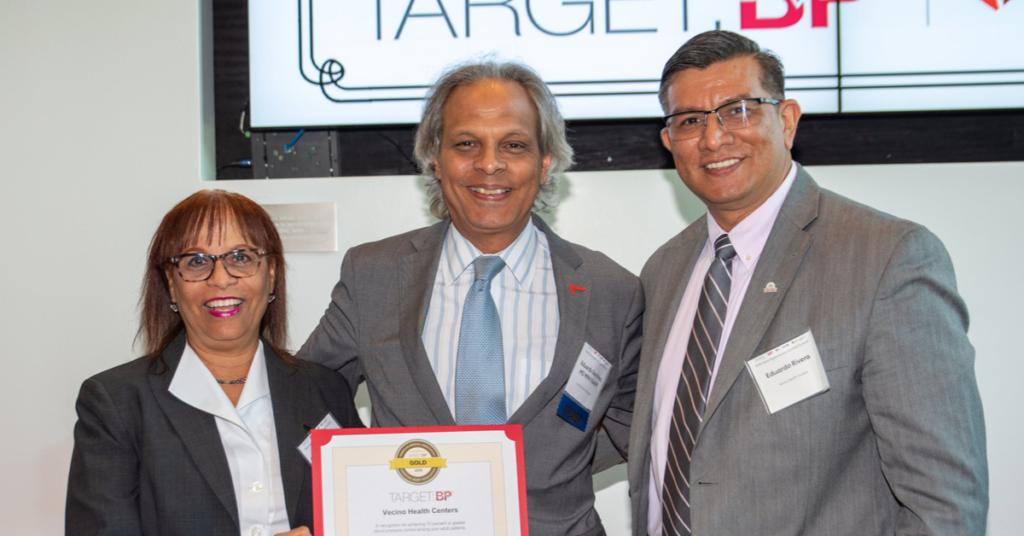 Vecino receives Target BP Award